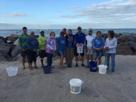 South Jetty Cleanup by HATW Venice Group