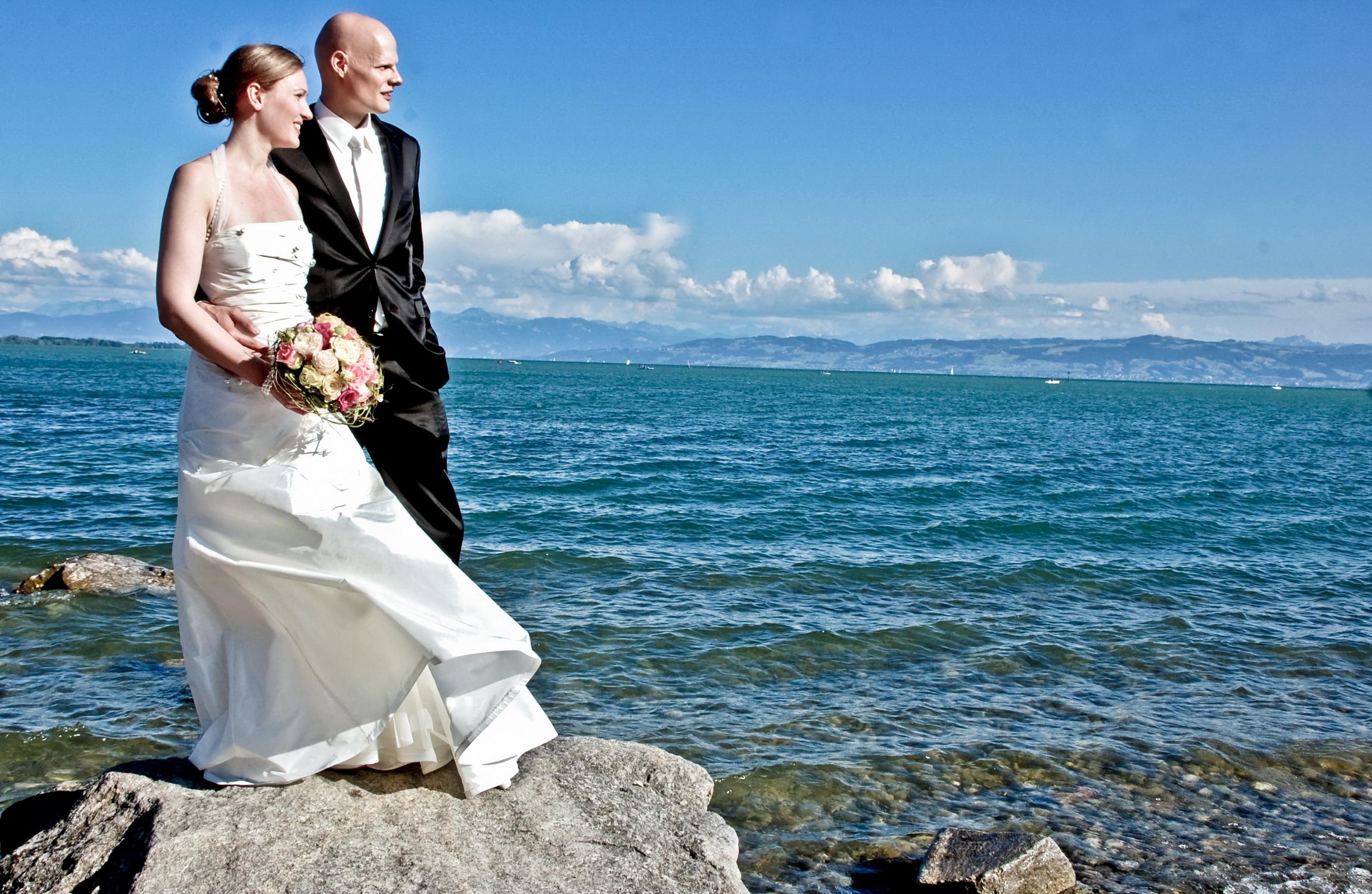 Brautpaar am Bodensee