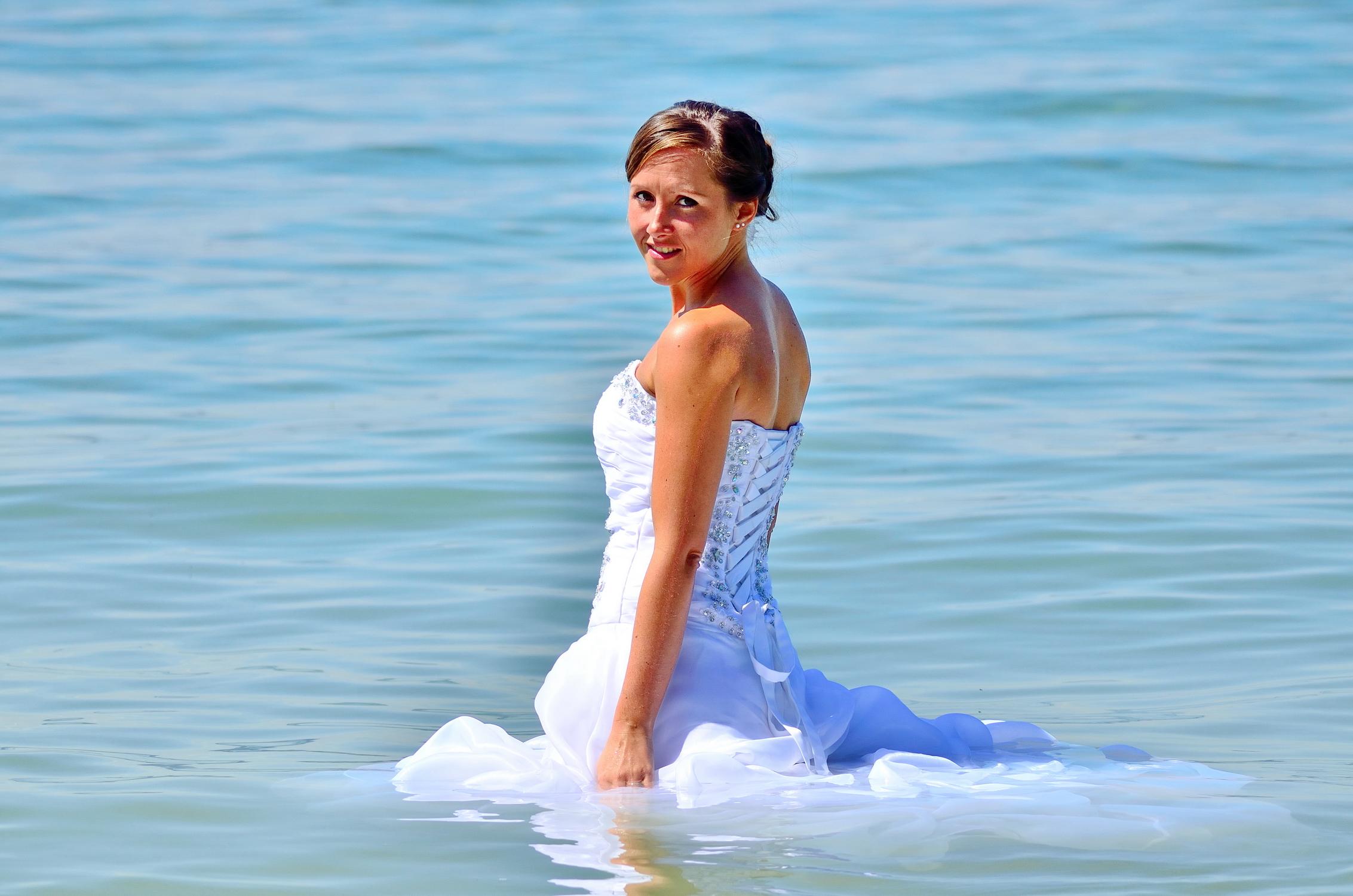 Braut im Bodensee