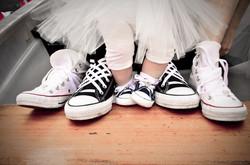 Familienfoto Schuhe  Hochzeit