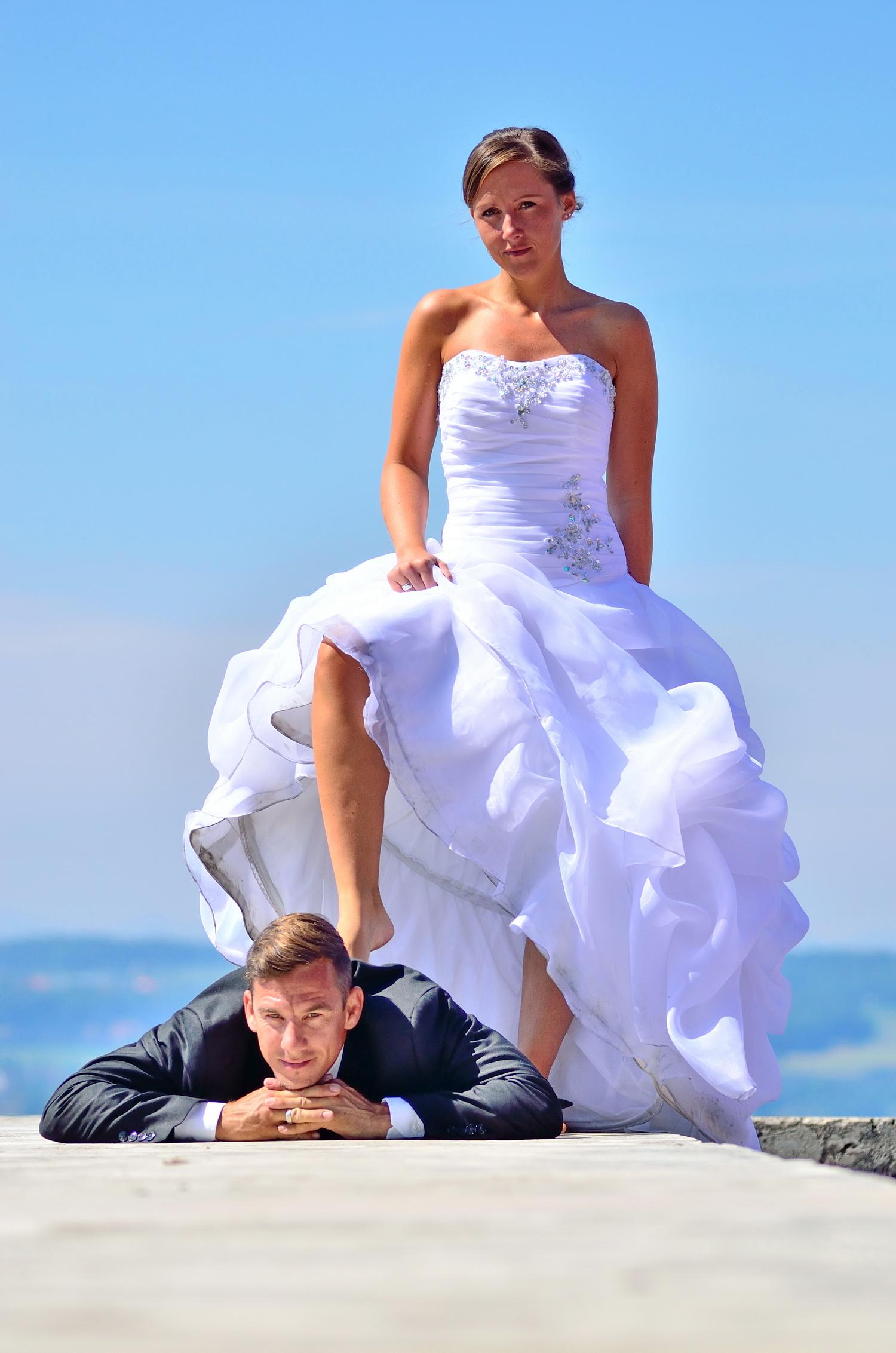 Braut oben