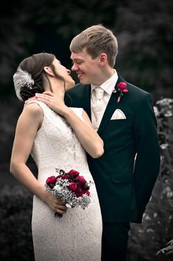 Brautpaar Garten