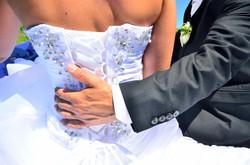 Hochzeitsumarmung