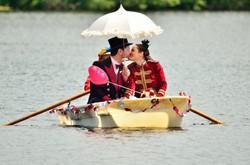 Hochzeitsfoto Ruderboot