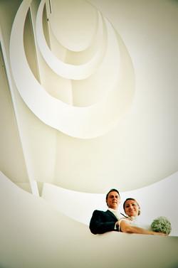 Brautpaar Treppe