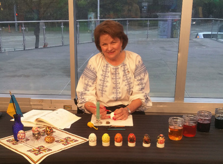 Pysanky Demonstration on Channel 8 News