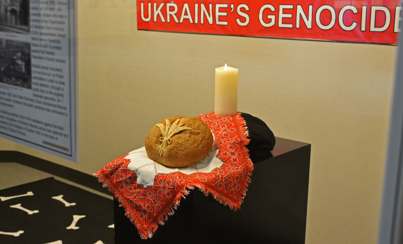 Bread over Embroidery with Candle