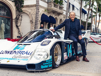 Mr. Derek Bell MBE and his legendary Porsche 962