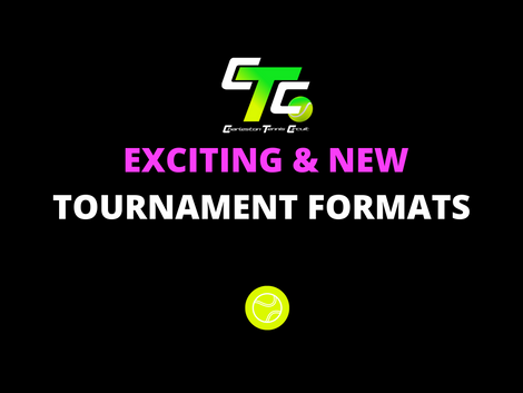 New Exciting Tennis Tournament Formats for the Charleston Tennis Community!
