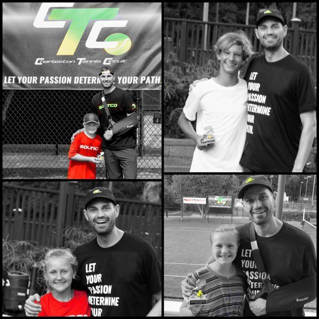 Sportsmanlike conduct award during Charleston Tennis Circuit Junior tennis tournament