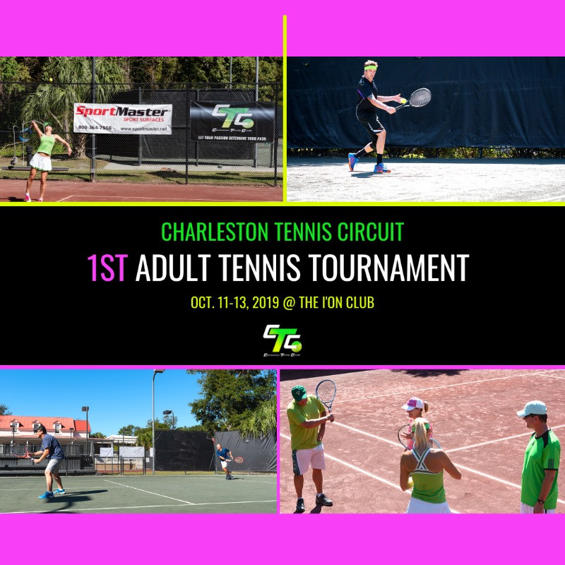 Images of the 1st CTC Adult Tournament at the I'ON Tennis Club in 2019