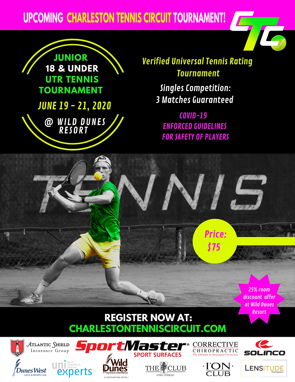 Verified UTR Junior Tennis Tournament 18 & Under in Wild Dunes South Carolina