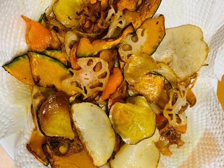 ココナッツオイル野菜チップス