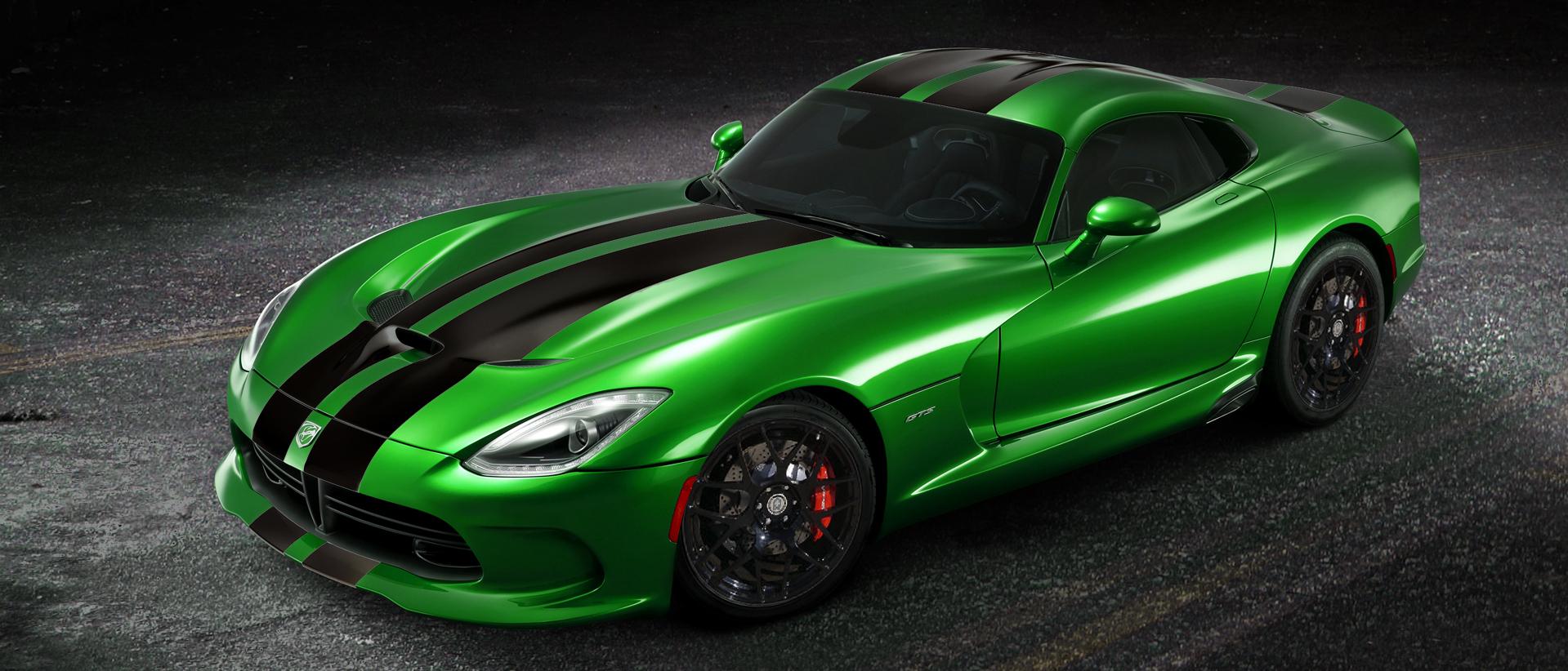 Snake Green Dodge Viper GTS
