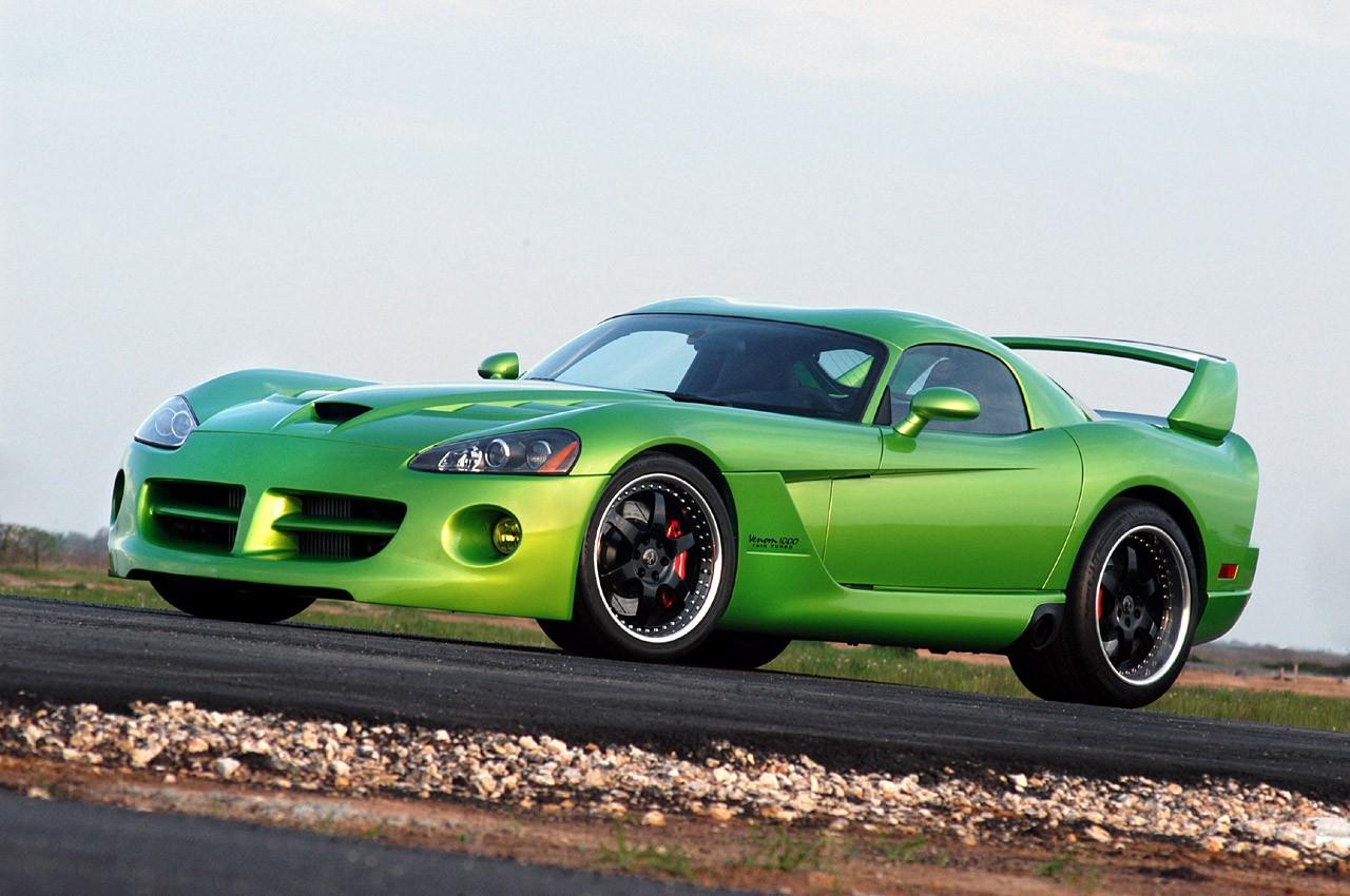 Snake Green Dodge Viper