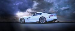 White Dodge Viper GTS