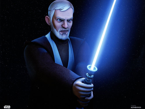 Ben Kenobi Light Saber 11x14 Only 2 left!