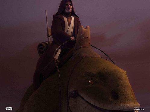 Kenobi on Dewback