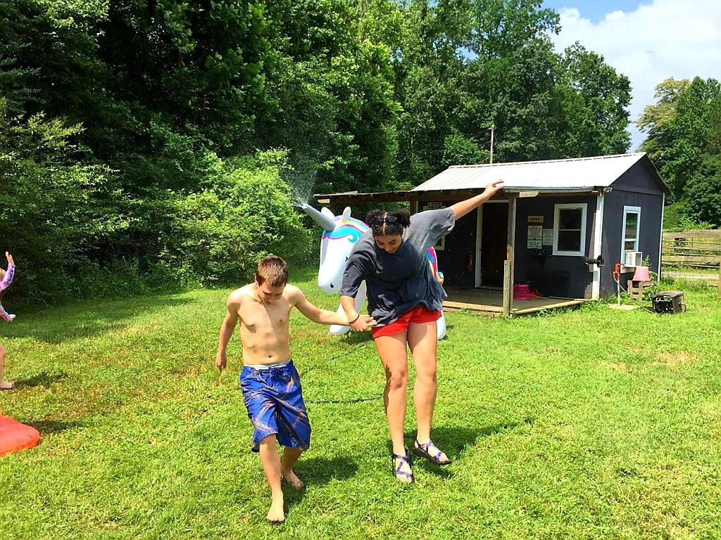 """Volunteering as a counselor with Hand, Hoof and Heart is the highlight of my summer."""