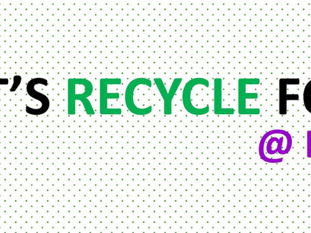 Lets Recycle for GOOD @ East Coast