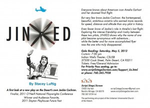 Upcoming staged readings of JINXED in Palm Springs