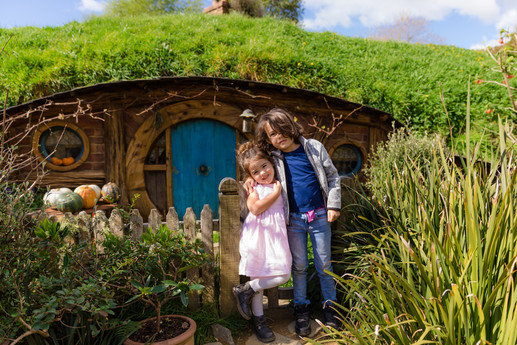 In Hobbiton, New Zealand