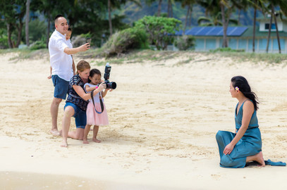BTS: one of my secret tecniques of shooting with kids- let them take the lead!
