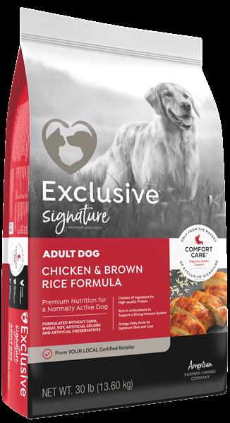 Exclusive® Adult Dog Chicken & Brown Rice