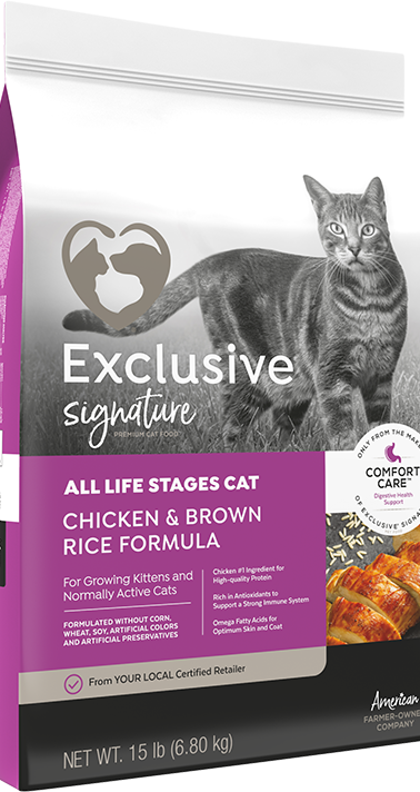 Exclusive® Signature All Life Stages Cat Chicken & Brown Rice