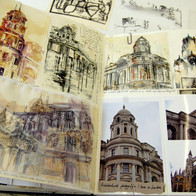A level Sketchbook pages