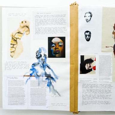 A level Sketchbook pages