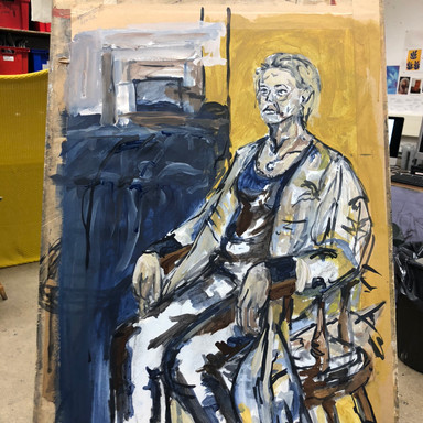 Life Drawing Lesson with A level students
