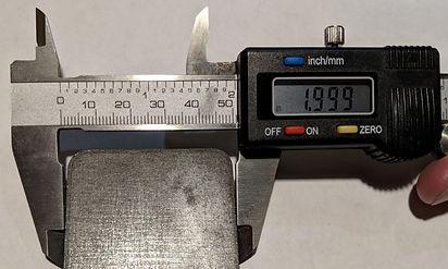Quarter inch laser-cut steel top edge di