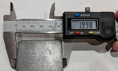 Quarter inch laser-cut steel bottom edge
