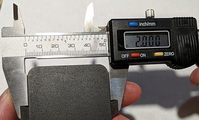 Half inch laser-cut steel top edge dimen