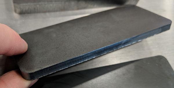 Quarter inch laser-cut steel edge qualit
