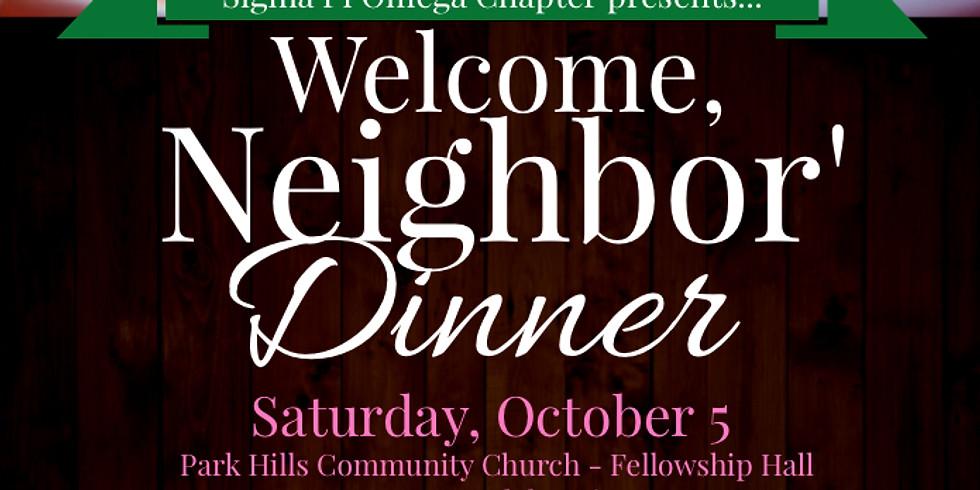 Welcome Neighbor' Dinner