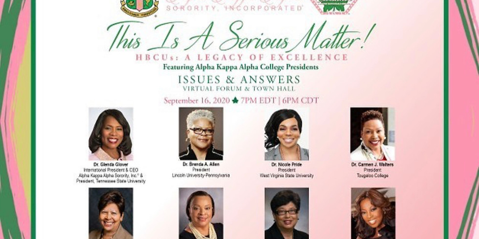 It's a Serious Matter: HBCUs A Legacy of Excellence