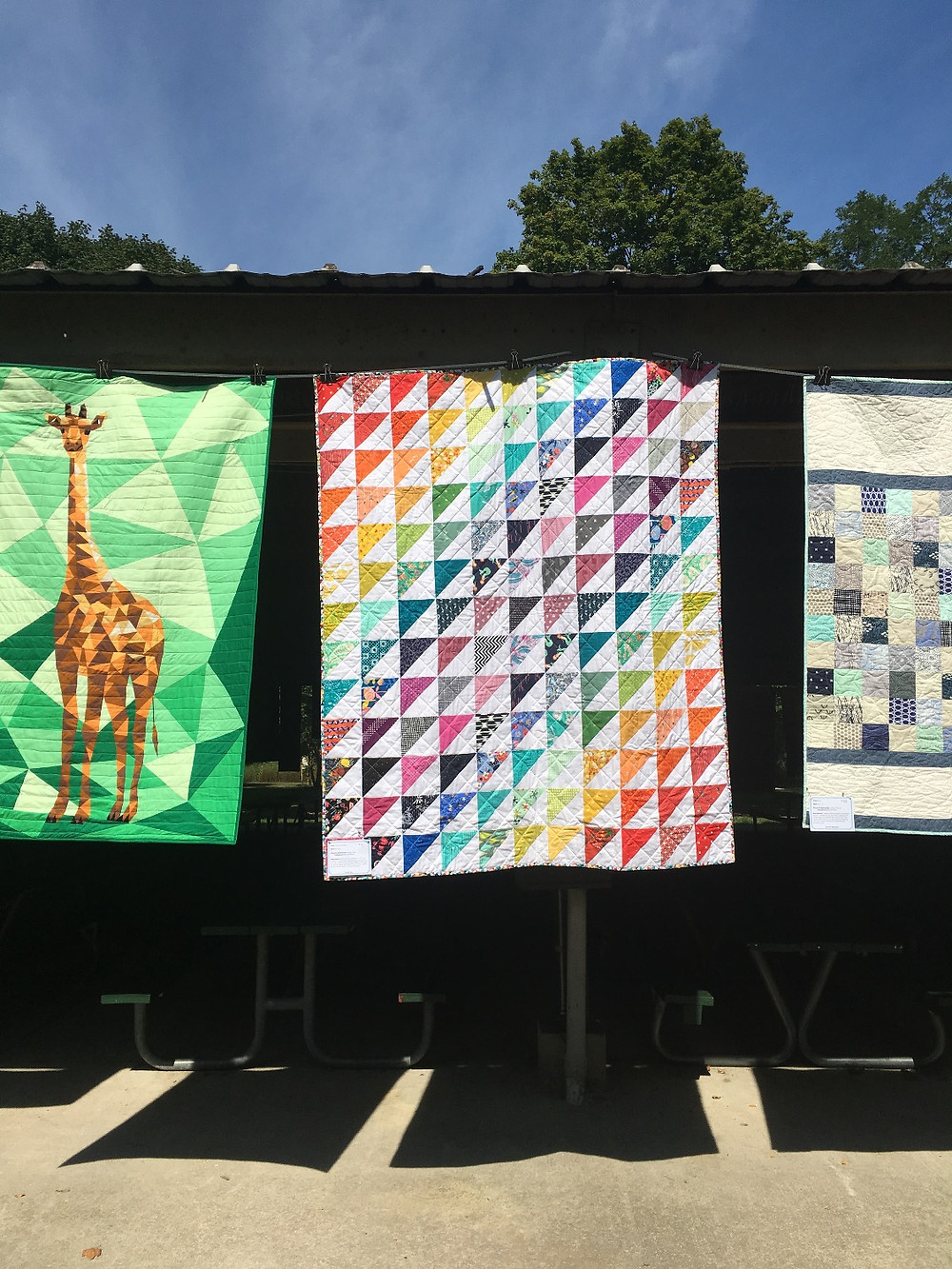 On display at the Indianapolis Modern Quilt Guild quilt show!