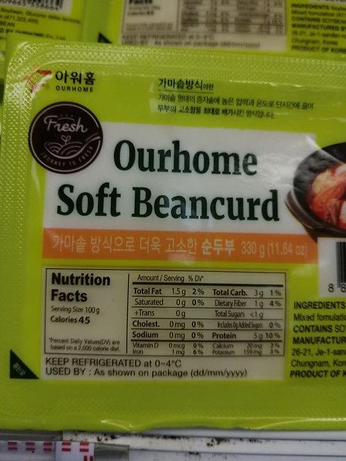 Ourhome Soft Tofu 1Pk / 11.64 oz
