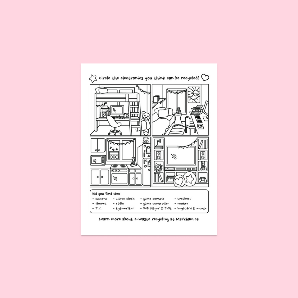 City of Markham Colouring Page Study