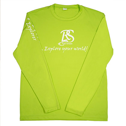 "Summer Series ""Explorer"" Lime Green Long Sleeve"