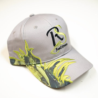 """Real Stream Fishing Hat """"Pro Angler"""" - Grey with Flare"""