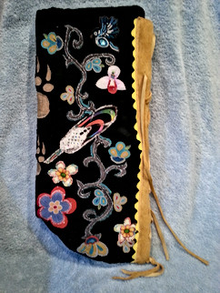 Objibway designs on Baby Moss Bag.