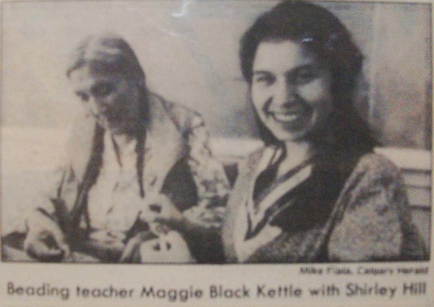 Late grannie Maggie Black Kettle taught me beading and Blackfoot.