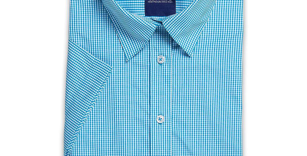 Ladies 3/4 Sleeve Gingham Check Shirt