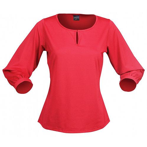 Ladies Silvertech 3/4 Sleeve Top