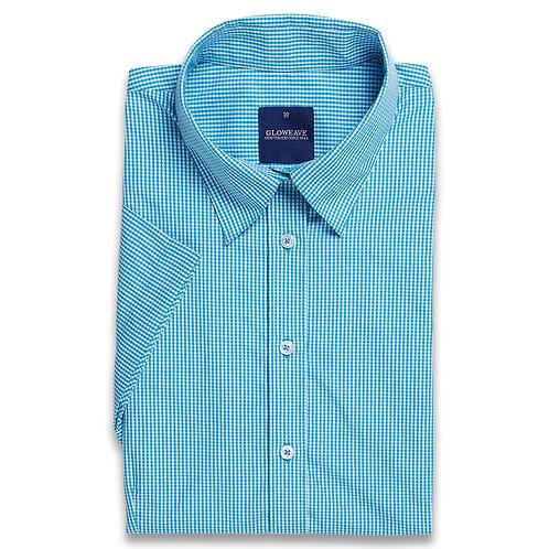 Mens Short Sleeve Gingham Check Shirt