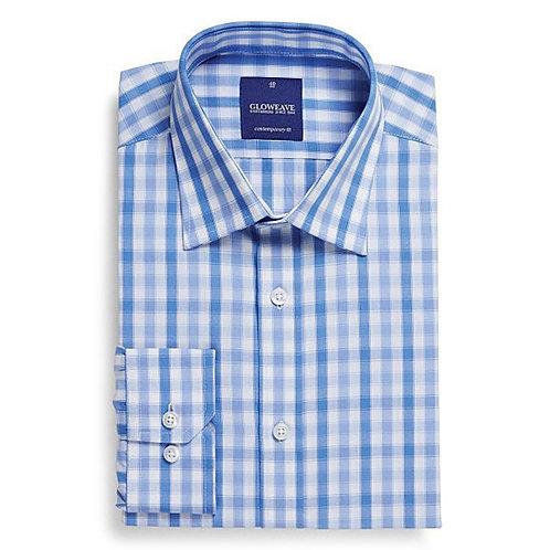 Mens Soft Tonal Check Long Sleeve Shirt