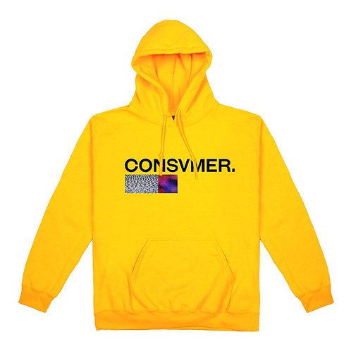 Hoodie yellow | Consvmer font